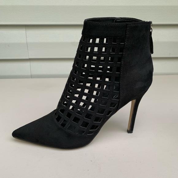 Aldo Shoes - Aldo black suede ankle heels.